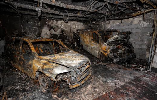 Investigación de incendios en vehiculos