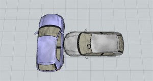 Colisión de vehículos fronto-lateral