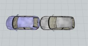 Colisión de vehículos por alcance