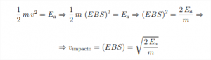 fòrmula igualtat energia cinèctica i energia absorbida